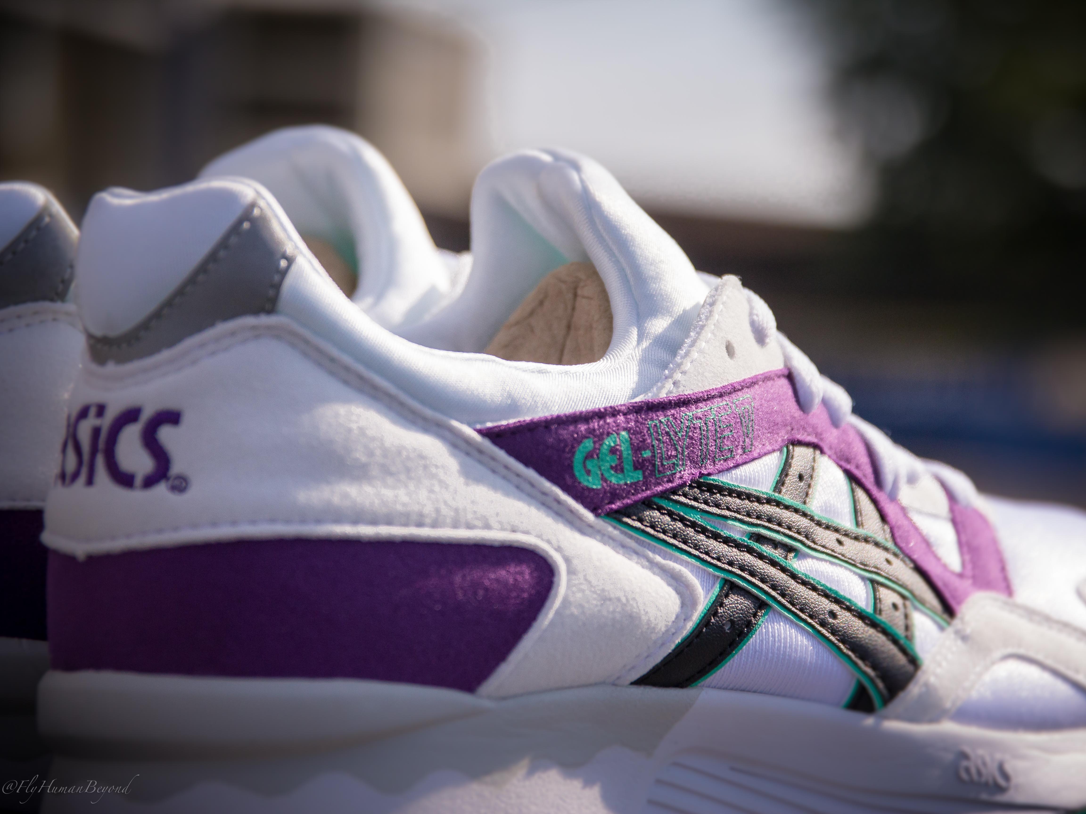 Gel Asics Lyte V Púrpura Blanco bhRmwB0Ot