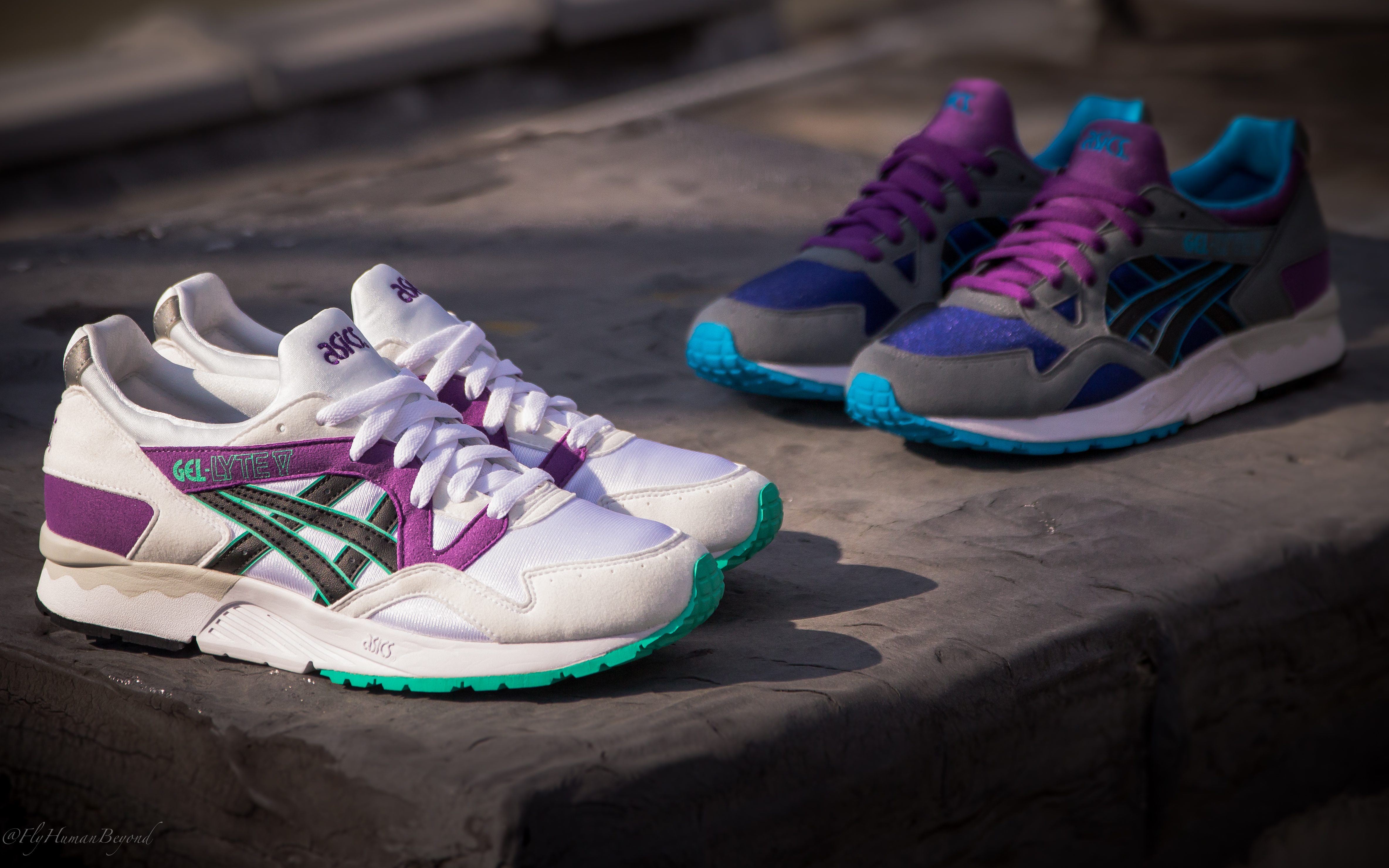 asics gel lyte v beige blue purple