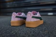 Puma x Rihanna Suede Creepers Women Pink Green-Oatmeal