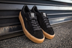 Rihanna Puma Suede Creeper Men Black-Oatmeal