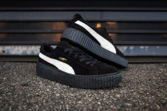 Rihanna Puma Suede Creeper Men Black-White