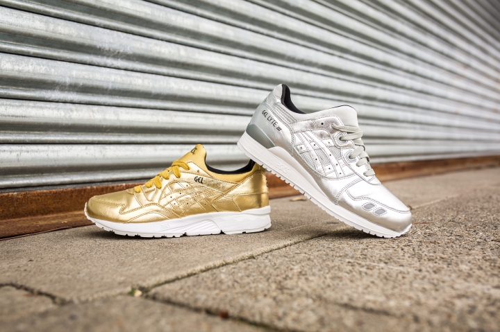 Asics Gel Lyte III Silver and Gel Lyte V Gold-3