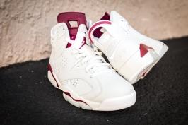Jordan VI White-Maroon-7
