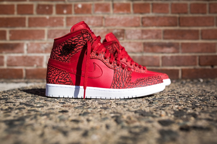 Air Jordan 1 High Gym Red-White-Team Red-White