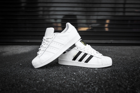 adidas Superstars white-black and white-white
