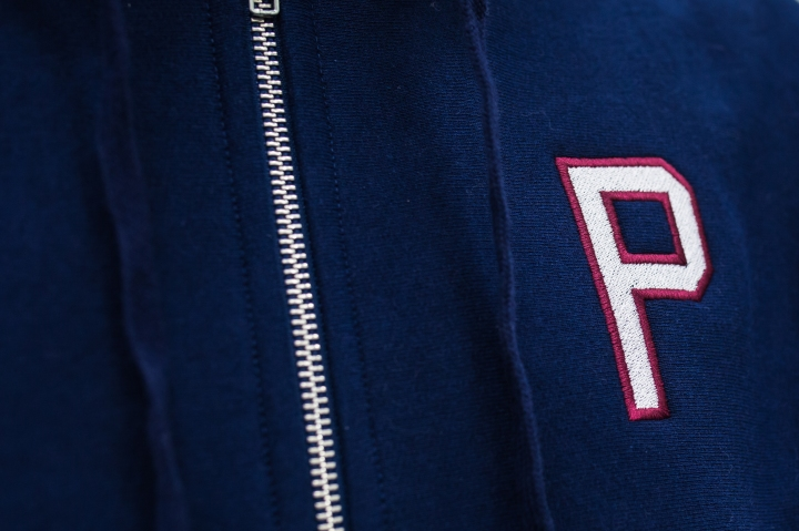 Packer Clothing Navy Hoodie Close up-1