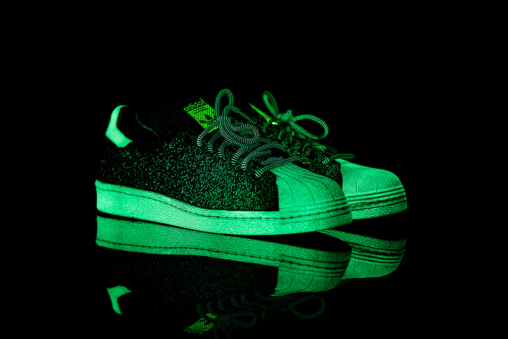 adidas glow in the dark shoes superstar