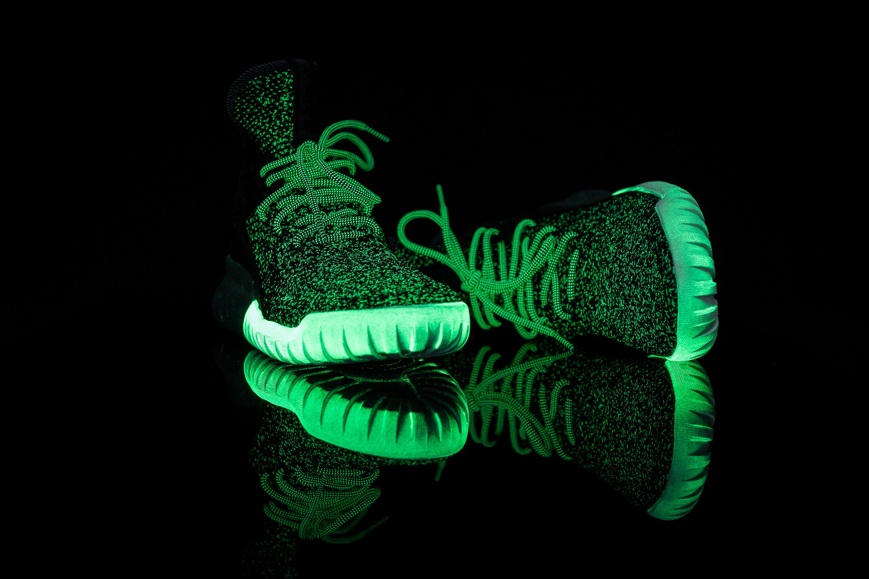 Adidas Originals Tubulares X Primeknit Brillan En La Oscuridad - Núcleo Negro / Blanco 69zh32SK