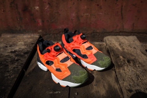 Instapump Fury ASYM Canopy Green-Peach-Red-5