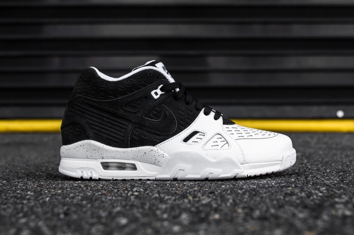 Nike Air Trainer 3 LE black-white web crop side