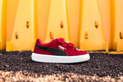 Sesame Street x Puma Suede Kids Elmo web crop side