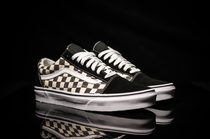 Vans Old Skool Checkerboard black-expresso