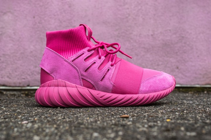 adidas Tubular Doom Pink-Pink web crop side