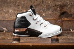 Air Jordan 17 retro white-metallic copper-black web crop side