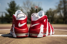 Nike Air More Uptempo white-gym red-6