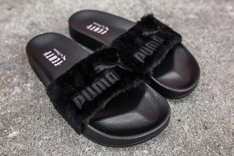 Puma Leadcat Fenty Slippers Black-Puma Silver-7