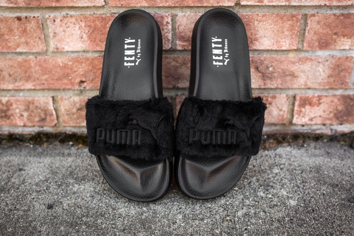 Puma Leadcat Fenty Slippers Black-Puma Silver-9