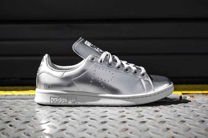Raf Simons x adidas stan smith silver web crop side