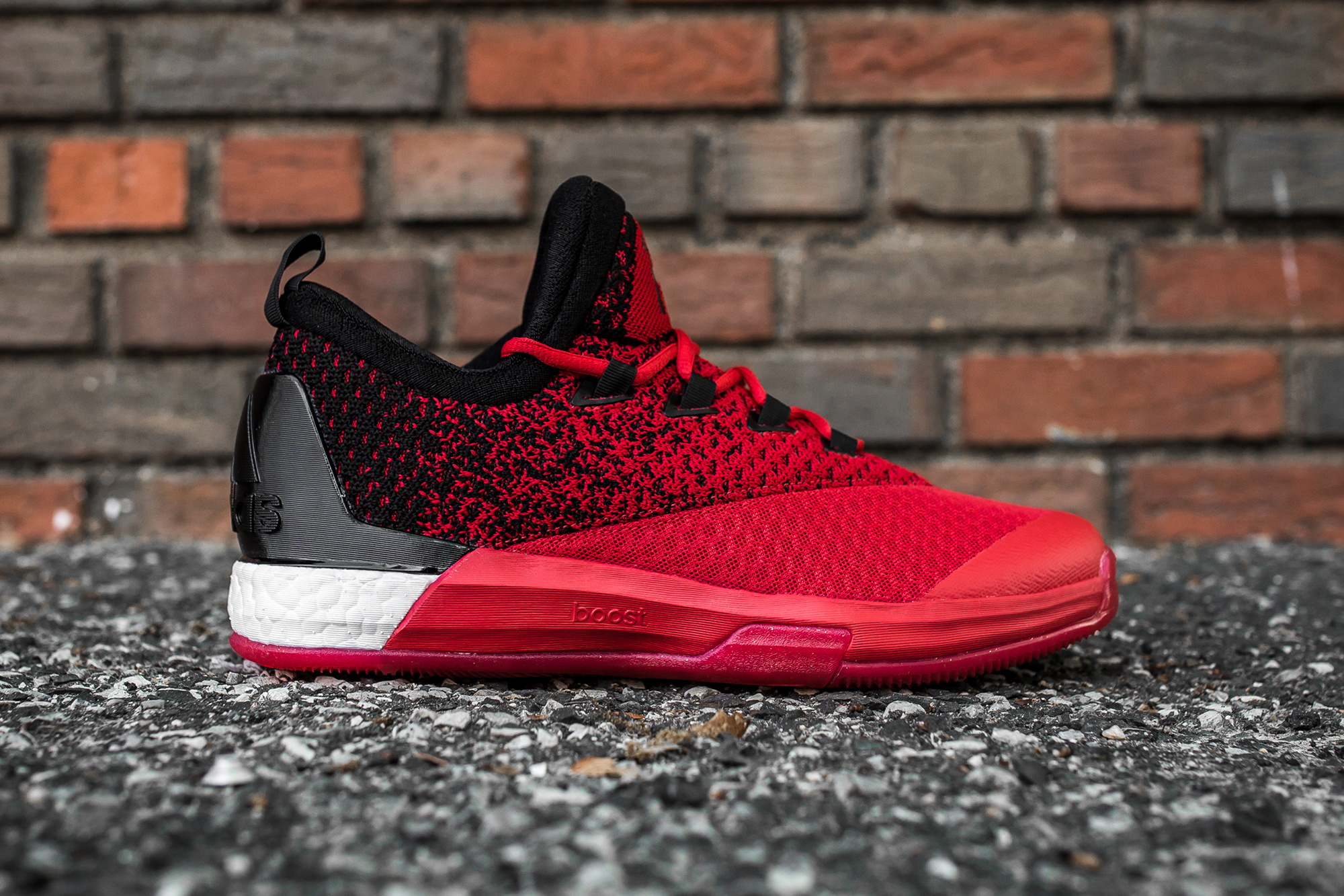c66adb8b61c hot adidas crazylight boost 2.5 low red black side 188e5 0bbc9