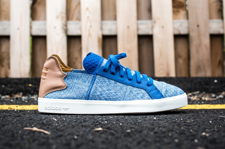 adidas Vulc Lace Up Pharrell Williams blue-grey-white side