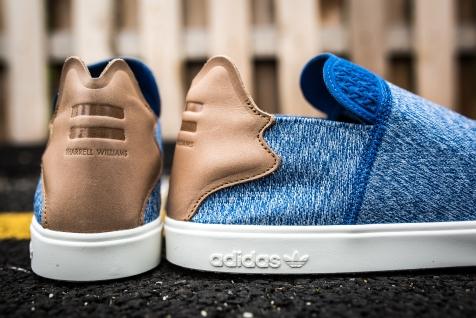 adidas Vulc Slip On Pharrell Williams Blue-grey-white-6