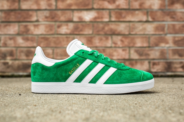 adidas Gazelle Green-White side