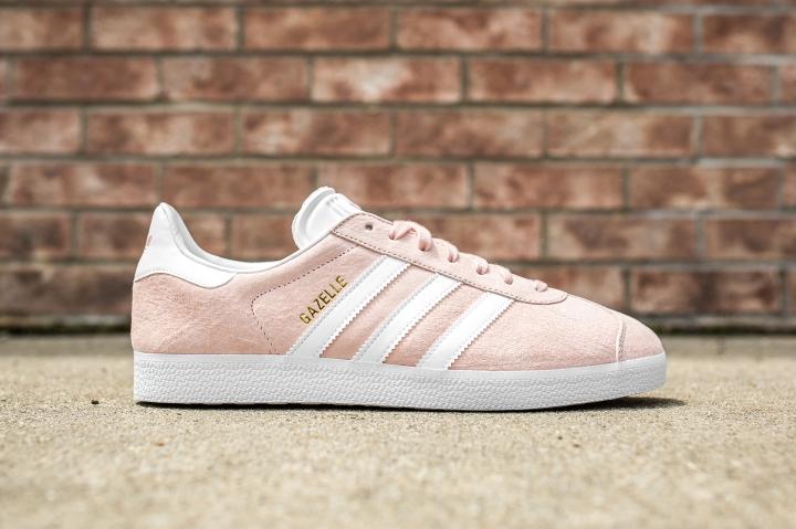 adidas Gazelle Pink-White side