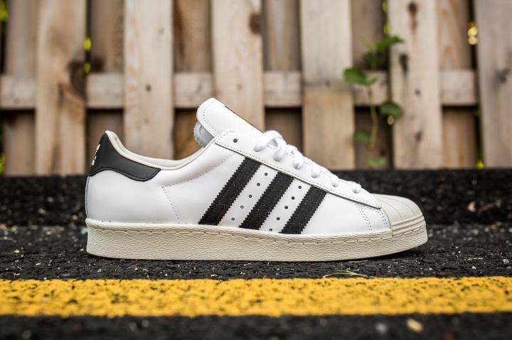 adidas Superstar 80 White-Black-Chalk side