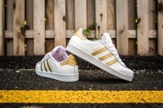 adidas Superstar White-Gold-10