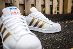 adidas Superstar White-Gold-7