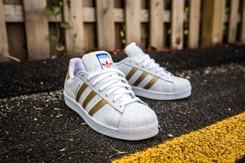 adidas Superstar White-Gold-8
