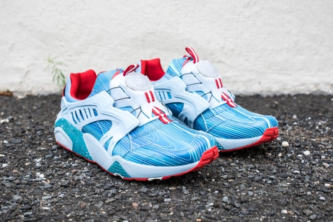 Limited Edition x Puma Disc Blaze Cyan Blue angle