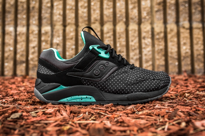Saucony Grid 9000 'Micro Dot' Black side
