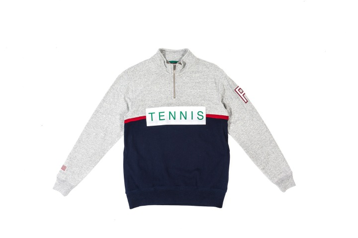 20 Packer 'GameSetMatch' Apparel Zip Tennis Fleece front