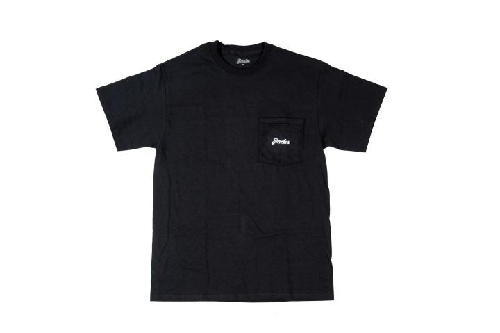 Packer Pocket Logo T Shirt Black-White front