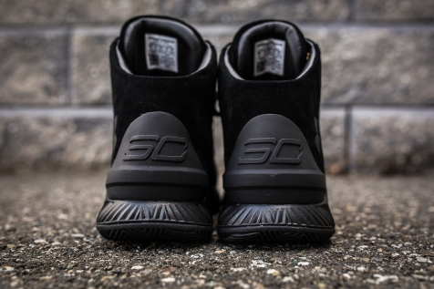 Under Armour Curry 1 Mid Black-Black Suede back