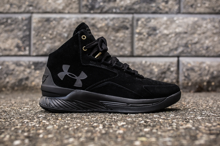 Under Armour Curry 1 Mid Black-Black Suede side