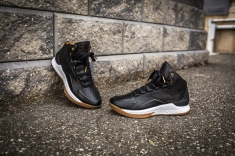 Under Armour Curry 1 Mid Leather Black-White-12