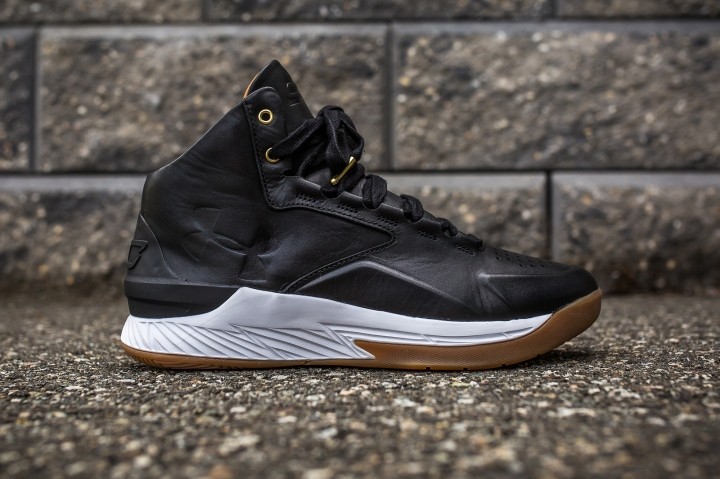 Under Armour Curry 1 Mid Leather Black-White side