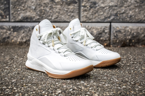Under Armour Curry 1 Mid Leather White-White angle