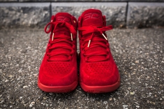Under Armour Curry 1 Mid Red-Red Suede front