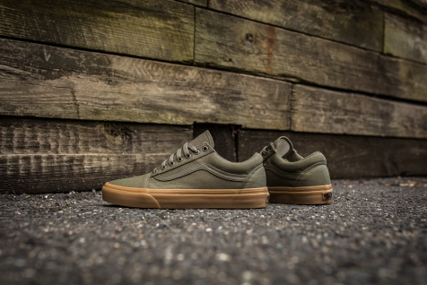 Vans Old Skool Canvas Ivy Green-Light Gum-7