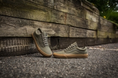 Vans Old Skool Canvas Ivy Green-Light Gum-9