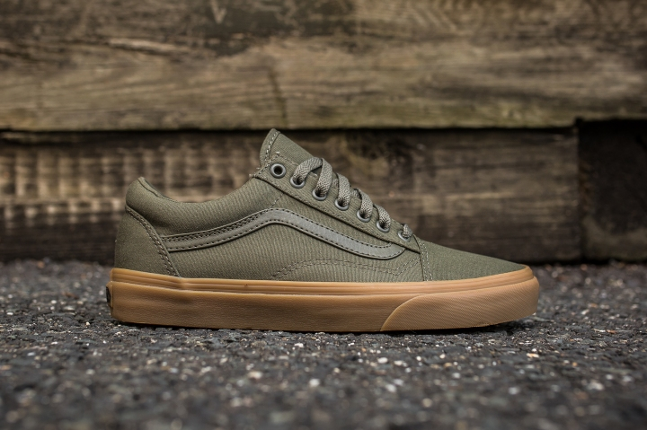Vans Old Skool Canvas Ivy Green-Light Gum side