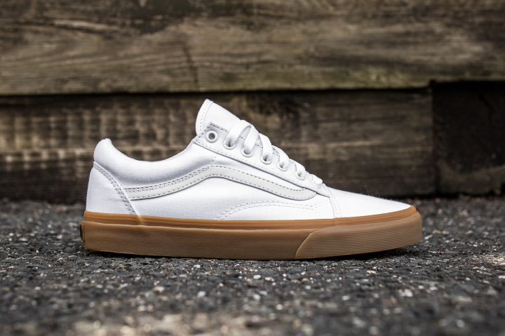 Vans Old Skool Canvas True White-Light Gum side