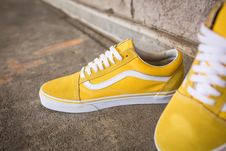 old school vans yellow
