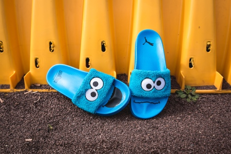 Puma x Sesame Street Slides Cookie Monster 362456 01-12