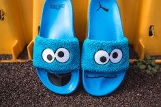 Puma x Sesame Street Slides Cookie Monster 362456 01-7