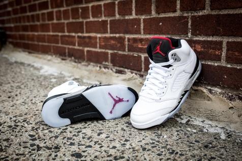 Air Jordan V White Cement -11