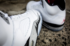 Air Jordan V White Cement -12